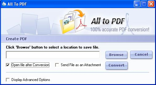 123FileConvert All To PDF Converter 5.0 full